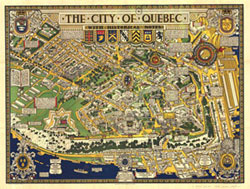 Carte : The City of Quebec