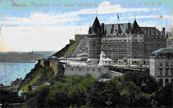 Postcard, Chateau Frontenac from Laval University, Quebec - Editor: A.L. Merrill; Toronto