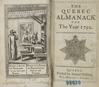 Livre ancien: The Quebec Almanack for the year 1792.
