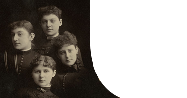 Early photo: portrait of 4 young women.
