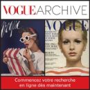 Deux photos de mode tirées du magazine Vogue