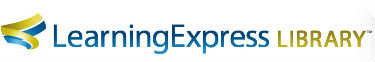 Logo de Learning Express Library.